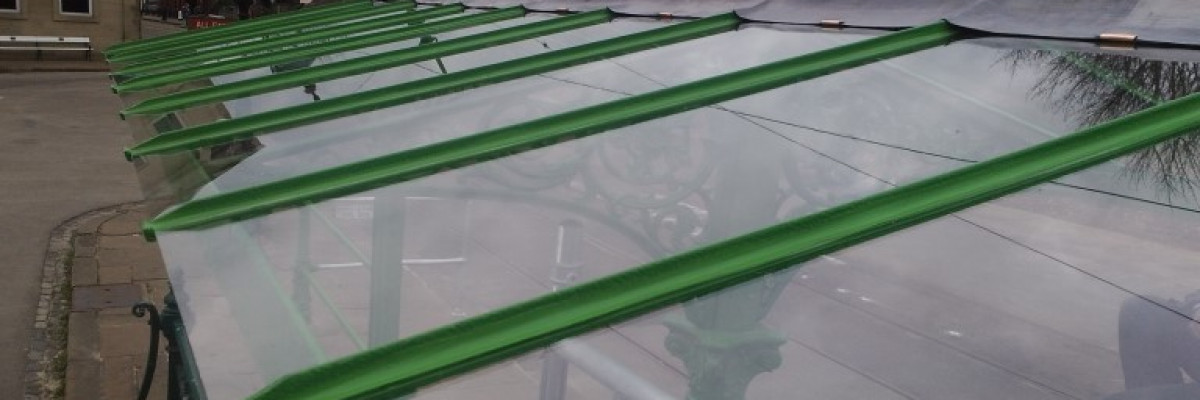 Glazed Roof of Canopy