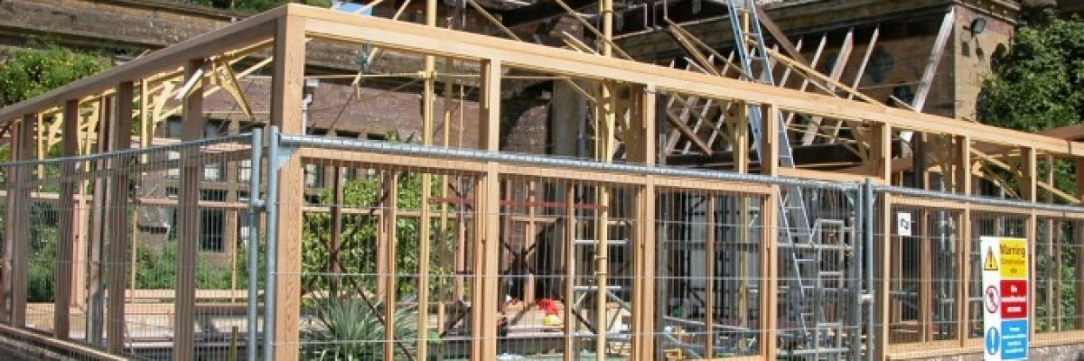 Timber and Iron Conservatory Restoration - Knightshayes Court