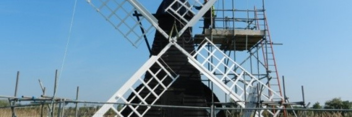 Wicken Fen Mill alsmot restored to its former glory